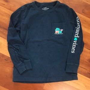 Boys Vineyard Vines St Patrick's Day Whale Shirt